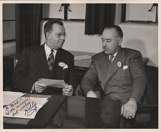 Lester J. Holoubek (L) and Elmer C. McLeod, Date Unknown