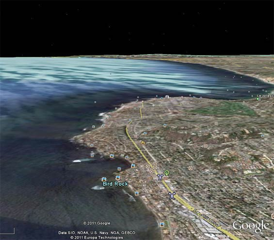 Google Earth View of the Area Above, 2011