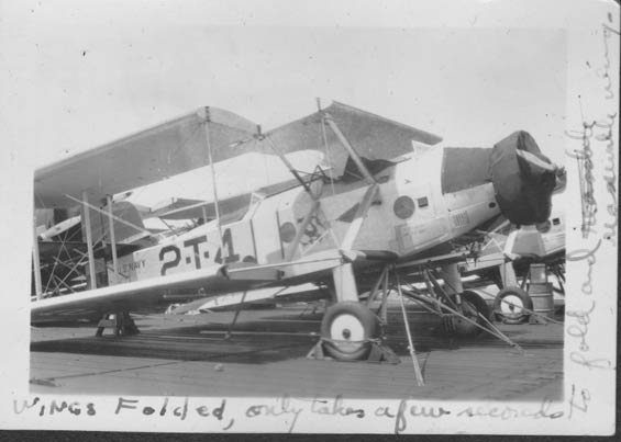 Vought, Wings Folded on Carrier Deck, Ca. 1928-30 (Source: Barnes)