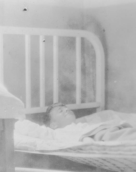 McMullen in Hospital Bed (?), Ca. 1928-30 (Source: Barnes)