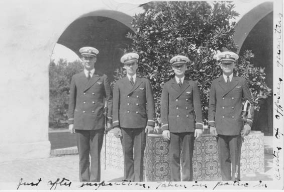 McMullen, Left, With Three Officers (Source: Barnes)