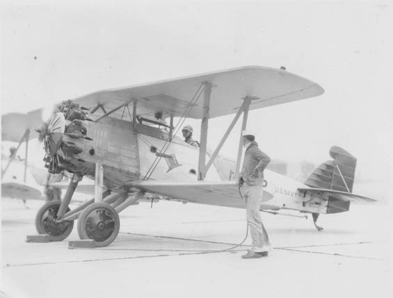 W.H. McMullen in Cockpit, Ca. 1929-30