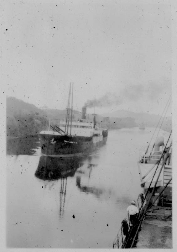 Passing a Ship in the Canal, Panama, Ca. 1929-30 (Source: Barnes)