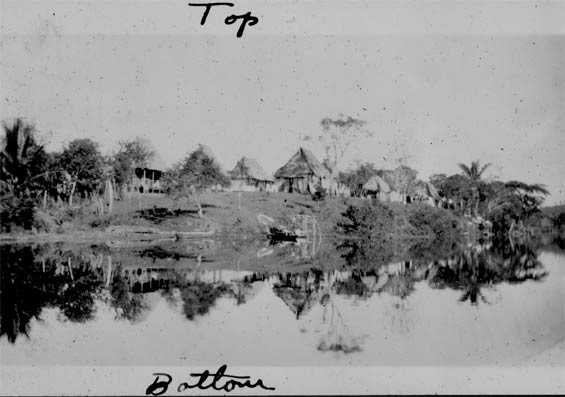 Village Mirrored in the Chagres, Panama, Ca. 1929-30 (Source: Barnes)