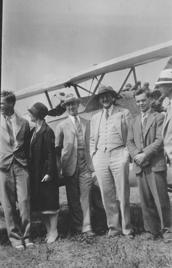 Six People in Front of Boeing, Ca. 1928-30 (Source: Barnes)