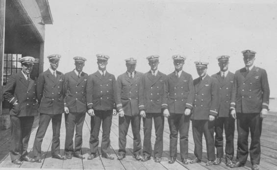 McMullen, 4th From Right, With Nine Unidentified Officers (Source: Barnes)