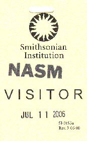 NASM Visitor Badge