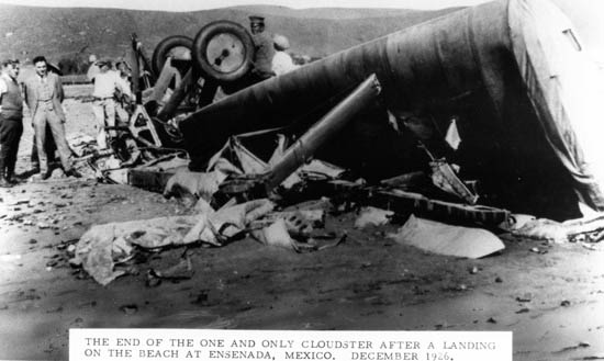 "The Douglas ""Cloudster"" Crashed in Mexico, 1926 (Source: SDAM)"