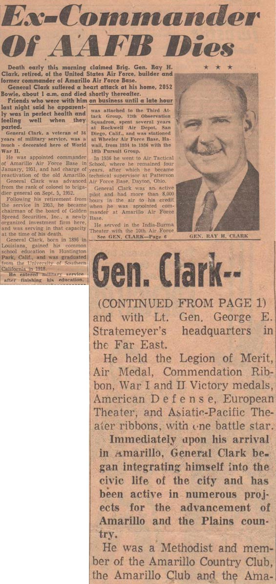 Obituary, Unsourced & Undated Article, Ca. October 27, 1955 (Source: Clark Family Album)