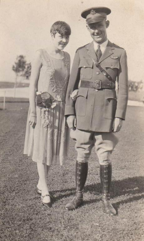 Lt. Clark with his first wife Louise, who passed away at a young age. Photo possibly taken in Hawaii, 1930s (Source: Clark Family Album)