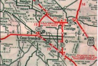 Highway Map, 1938, Showing Florence Airport (Source: Ringer)