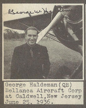 George Haldeman, June 25, 1936 (Source: Boedy's Album)