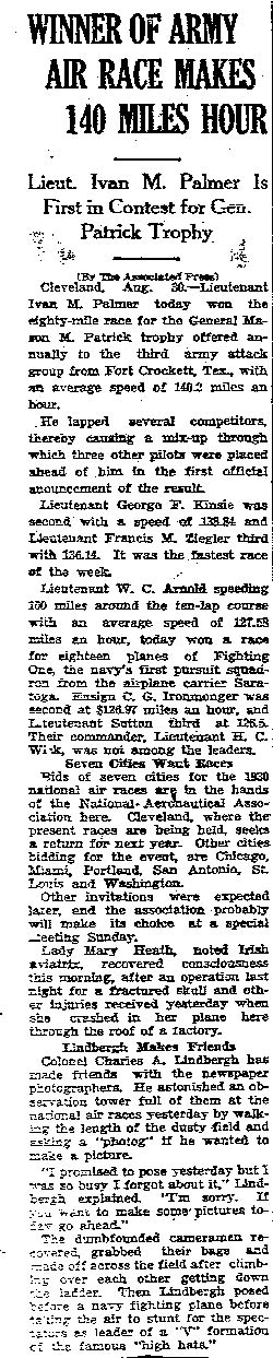 New Orleans Times-Picayune, August 31, 1929 (Source: Woodling)