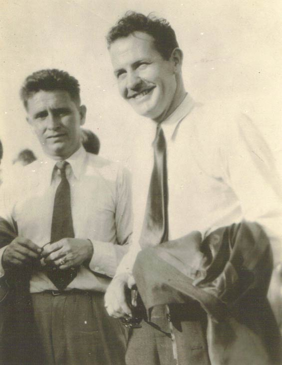 Benny Griffin (L) and Jimmie Mattern, Ca. 1932-33 (Source: Staines)