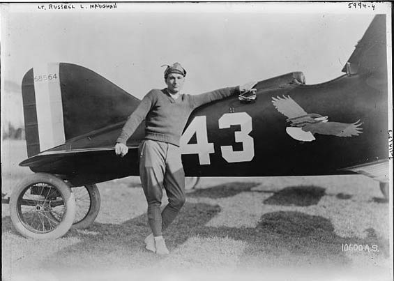 Russell Maughan and Curtiss R-6 Racer, 1922 (Source: LOC)