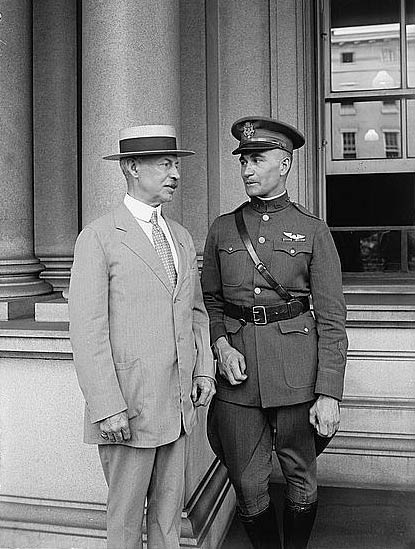 Mason Patrick (L) and Russell Maughan, July 8, 1924 (Source: LOC)