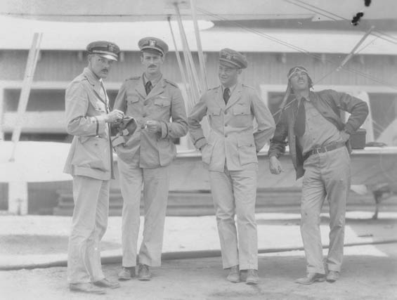 McMullen, Second From Right, and Three Unidentified Officers, Ca. 1928-30 (Source: Barnes)