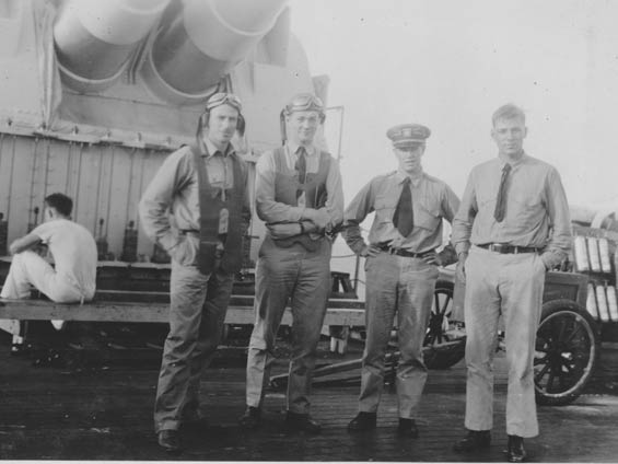 McMullen, Second From Left, and Three Unidentified Officers, Ca. 1928-30 (Source: Barnes)