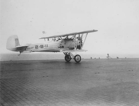 Boeing F3B-1, A-7725 Departing Carrier Deck, Ca. 1928-30 (Source: Barnes)