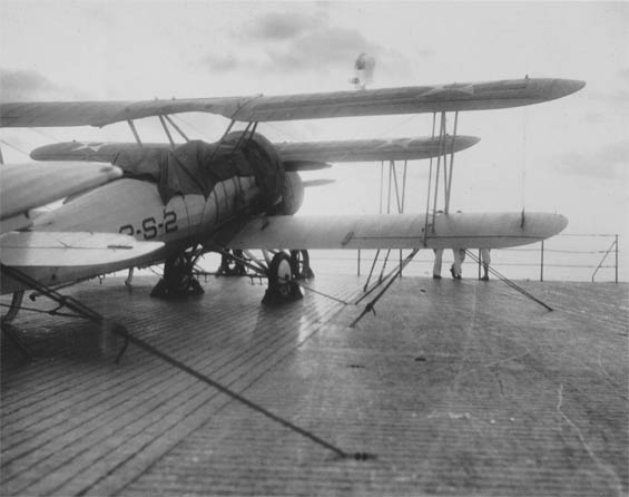 Corsairs on Deck; Sunrise or Sunset, Ca. 1928-30 (Source: Barnes)