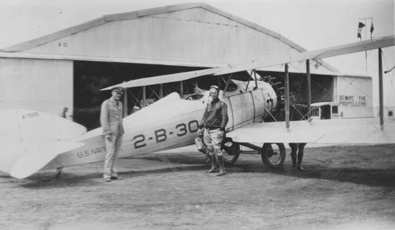 Harry Sartoris and Charlie Dolson, Vought UO-1, August 30, 1928 (Source: Barnes)