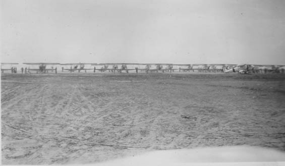 McMullen's Squadron on the Ground, August 30, 1928 (Source: Barnes)