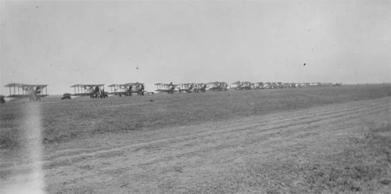 Unidentified Aircraft in a Row, Ca. 1928-30 (Source: Barnes)