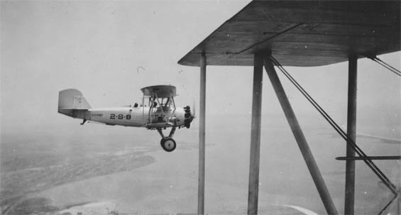 Vought Aircraft in Formation, , Ca. 1928-30 (Source: Barnes)