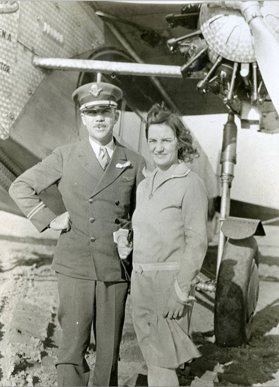 Lamar Nelson (L) and Unidentified Woman, Ca. 1920s-30s (Source: NMDC)
