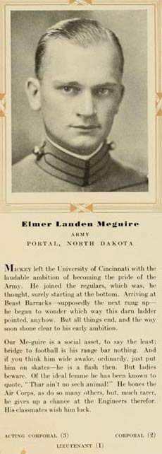 Second Lieutenant Elmer Landon Meguire, Zettel's copilot. (Source: Woodling)